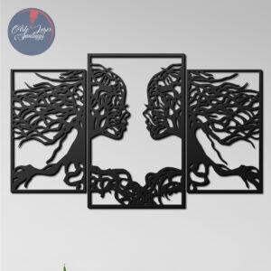 Cuadro Mujer pareja ramas