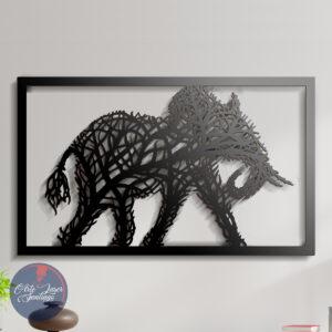 Cuadro Elefante Ramas